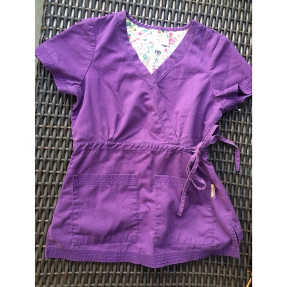 11d2686a0fd koi Tops | Purple Scrub Top With Tie And Pockets Xs | Poshmark